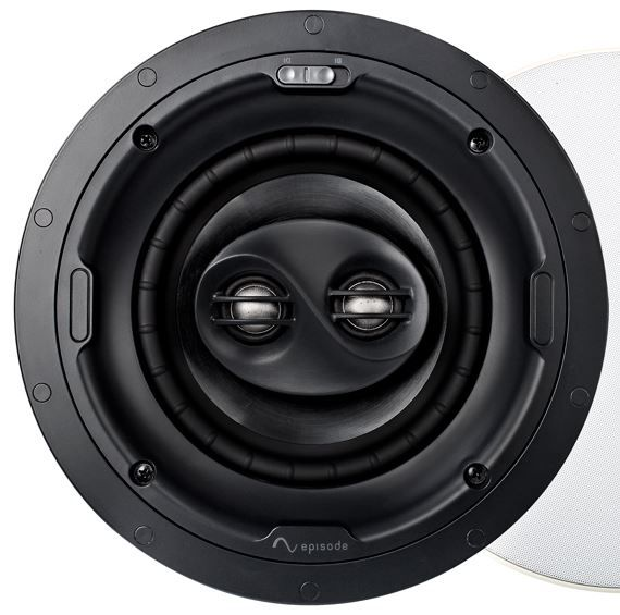 """SnapAV Episode® Signature 1500 Series 8"""" In-Ceiling Surround Speaker-Black-ESS-1500T-ICSURR-8"""