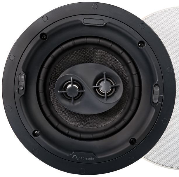 """SnapAV Episode® Signature 1700 Series 8"""" In-Ceiling Surround Speaker-Black-ESS-1700T-ICSURR-8"""