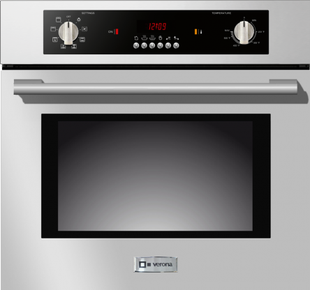 """Verona® 24"""" Electric Built In Single Wall Oven-Stainless Steel-VEBIEM241SS"""