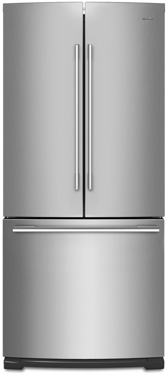 Whirlpool® 19.68 Cu. Ft. French Door Refrigerator-Fingerprint Resistant Stainless Steel-WRFA60SMHZ