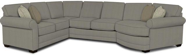 England Furniture Co. Brantley 4 Piece Culpepper Cement/Alvarado Mineral/Abode Crayon Sectional-5630-28-22-43-95+8612+8000+8601