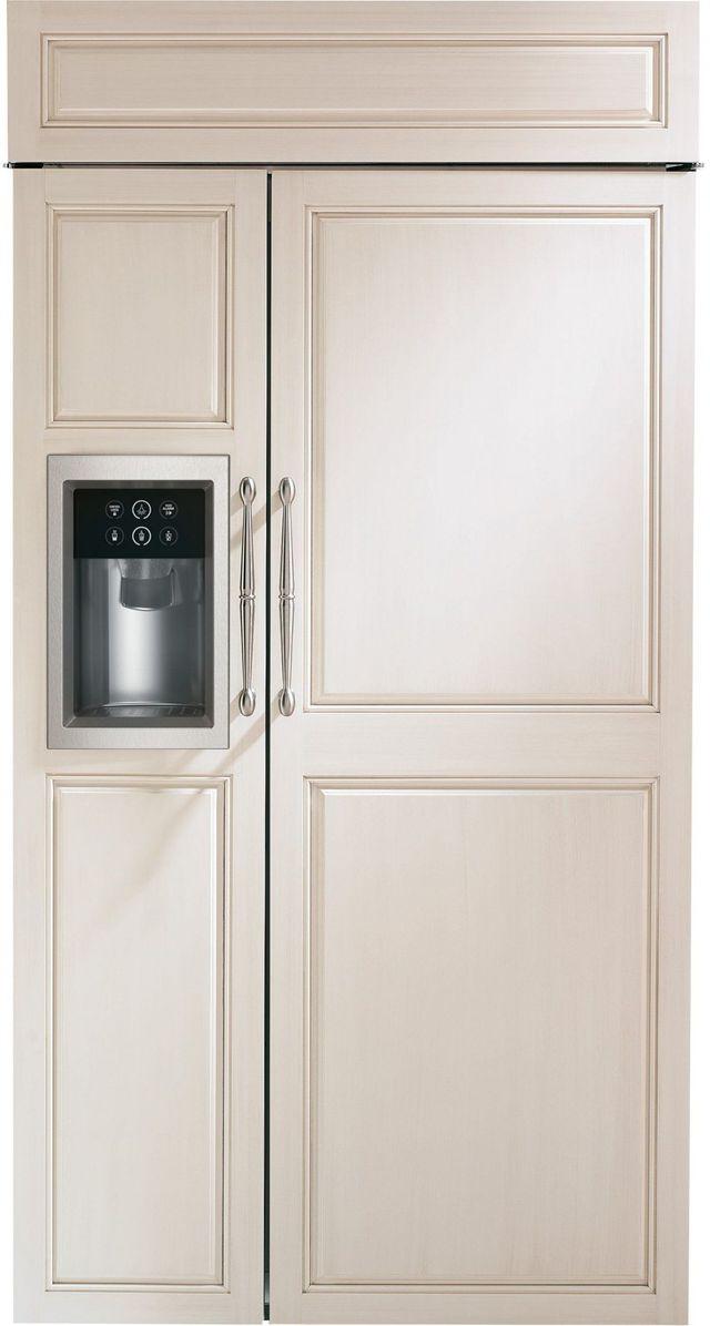 Monogram 24.61 Cu. Ft. Custom Panel Smart Built In Side-by-Side Refrigerator-ZISB420DNII