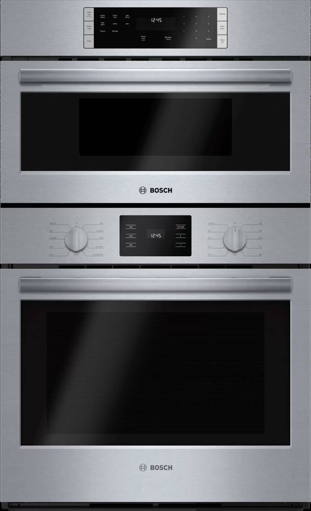 """Bosch 500 Series 29.75"""" Stainless Steel Microwave Combination Oven-HBL57M52UC"""