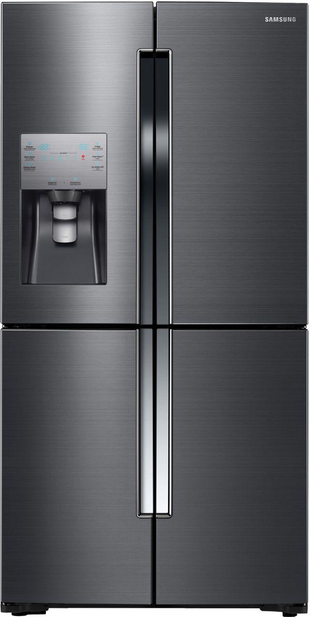 Samsung 23 Cu. Ft. Counter Depth 4-Door Flex™ Refrigerator-Fingerprint Resistant Black Stainless Steel-RF23J9011SG