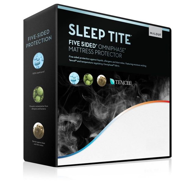 Malouf® Sleep Tite® Five 5ided® Queen Mattress Protector with Tencel® + Omniphase®-SLOTQQ5P