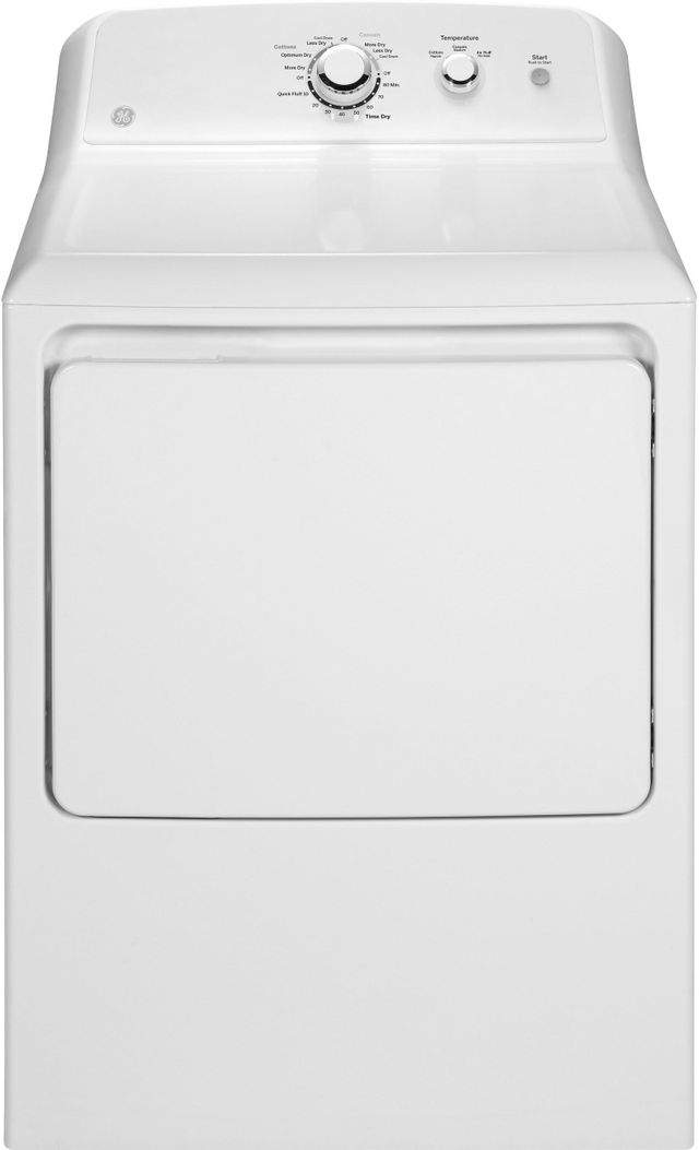 GE® Front Load Electric Dryer-White-GTD33EASKWW
