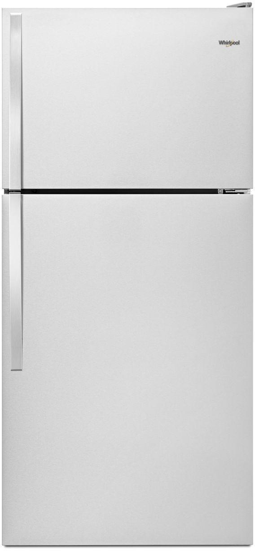 Whirlpool® 18.2 Cu. Ft. Top Freezer Refrigerator-Stainless Steel-WRT318FMDM