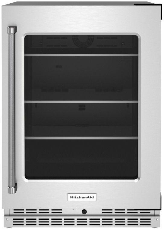 KitchenAid® 5.2 Cu. Ft. Stainless Steel Beverage Center-KURR314KSS