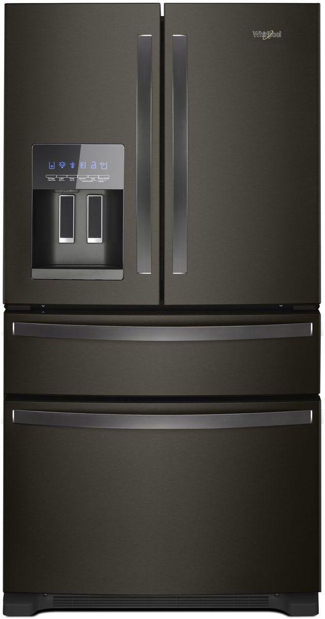 Whirlpool® 25 Cu. Ft. French Door Refrigerator-Fingerprint Resistant Black Stainless-WRX735SDHV