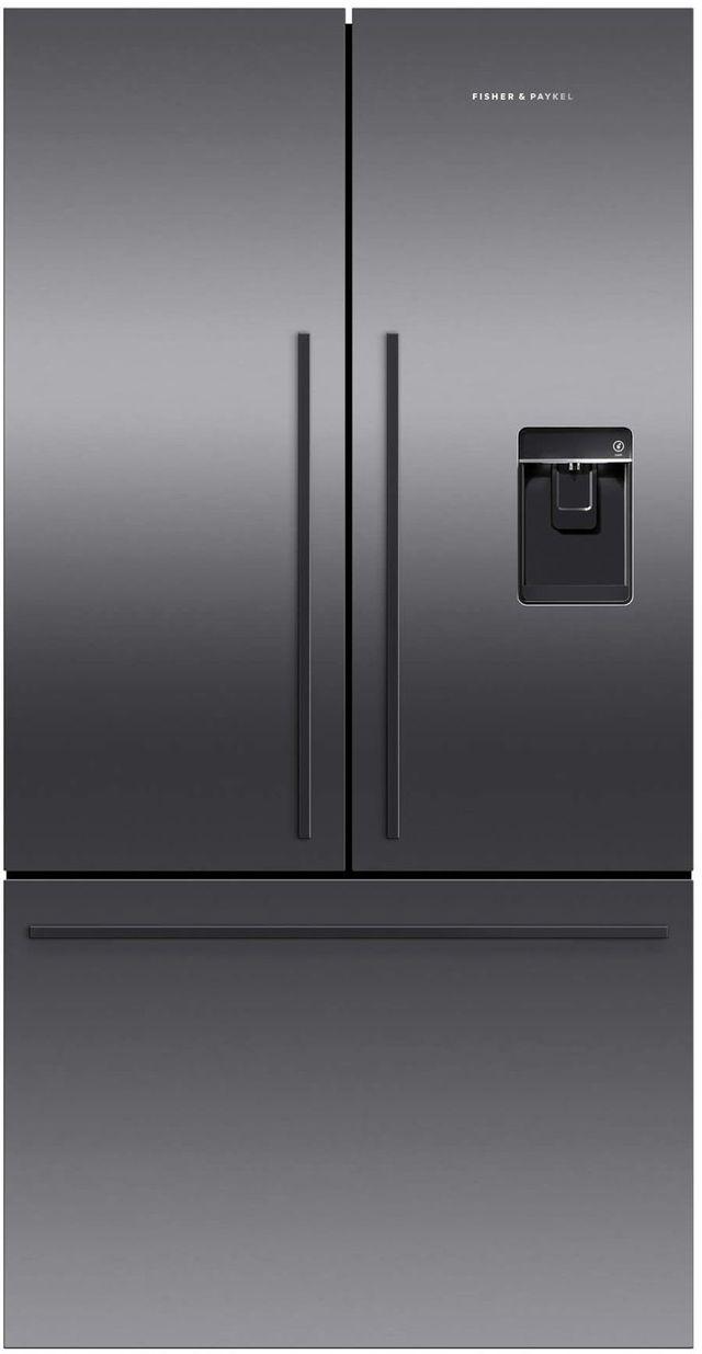 Réfrigérateur à portes françaises à profondeur de comptoir de 36 po Fisher Paykel® de 20,1 pi³ - Acier inoxydable noir-RF201ADUSB5