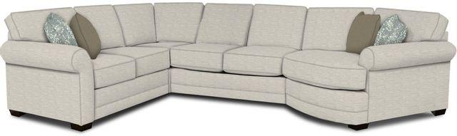 England Furniture Co. Brantley 4 Piece Culpepper Snow/Alvarado Mineral/Zillah Cobblestone Sectional-5630-28-22-43-95+8613+8694+8601