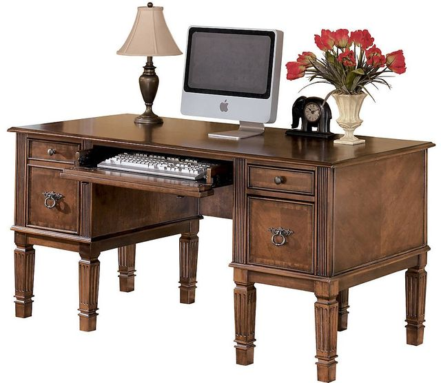 "Signature Design by Ashley® Hamlyn Medium Brown 60"" Office Desk-H527-26"