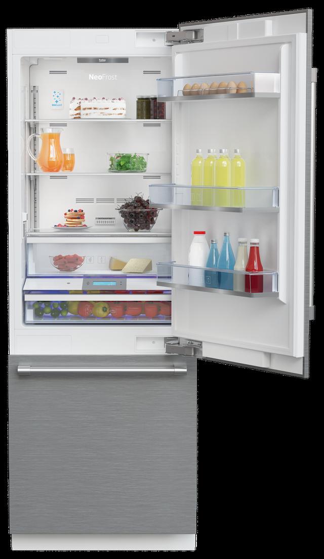 Beko 16.4 Cu. Ft Panel Ready Built In Bottom Freezer Refrigerator-BBBF3019IMWE