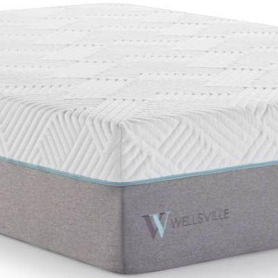 "Malouf® Sleep Wellsville Twin 14"" Inch Gel Hybrid Mattress-WE14TT38GH"