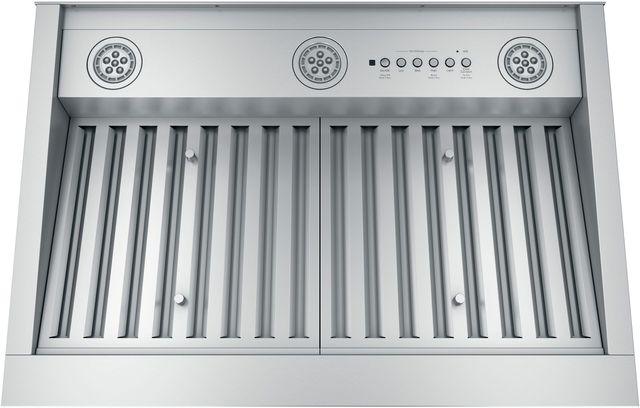 "GE Profile™ 28.38"" Stainless Steel Custom Ventilation-UVC9300SLSS"