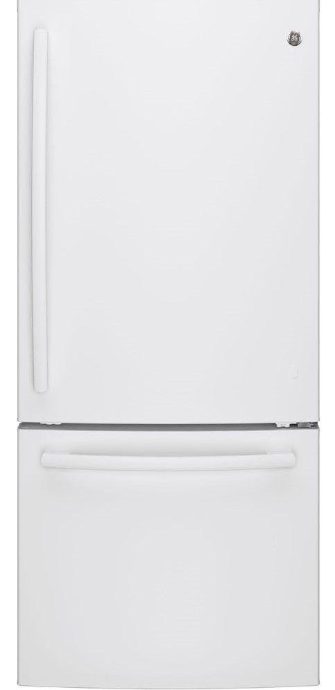 Réfrigérateur à congélateur inférieur de 30 po GE® de 20,9 pi³ - Blanc-GDE21DGKWW