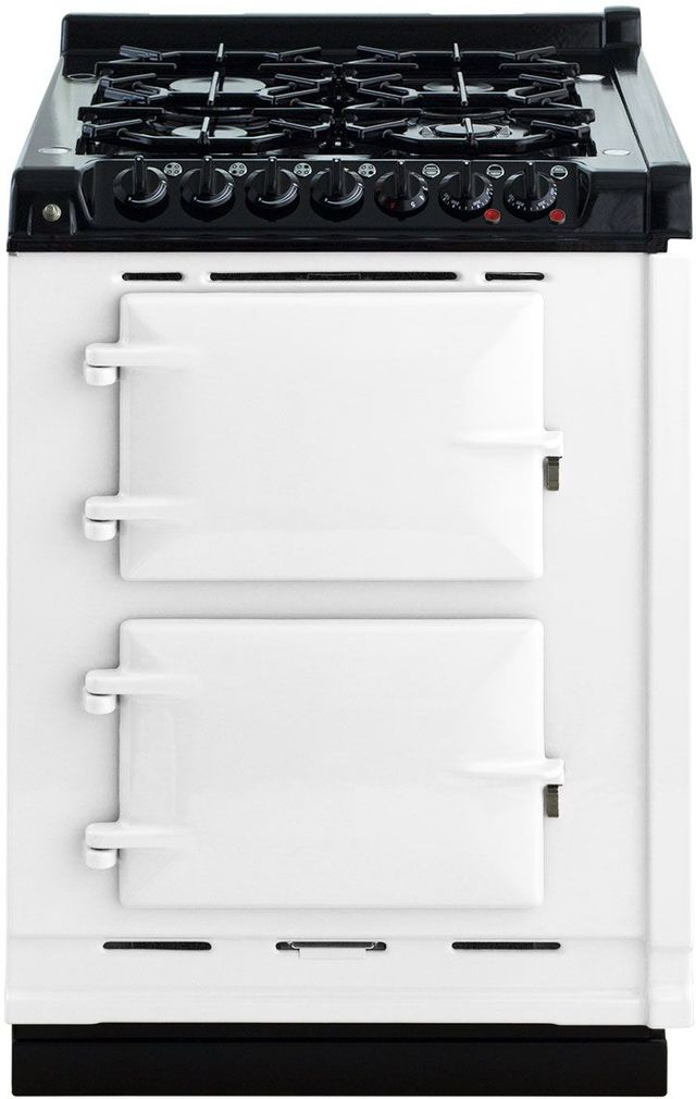 "AGA 24"" White Integrated Dual Fuel Range-TCDCNGM-WHT"