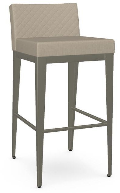 Amisco Ethan Non-Swivel Quilted Bar Stool-45308-30Q