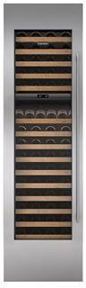 "Sub-Zero® 24"" Integrated Stainless Steel Wine Storage Door Panel with Tubular Handle-7025387"