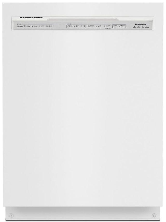 "KitchenAid® 24"" White Built In Dishwasher-KDFE204KWH"