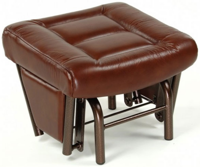 Pouf Footstools en tissu brun PEL International®-972