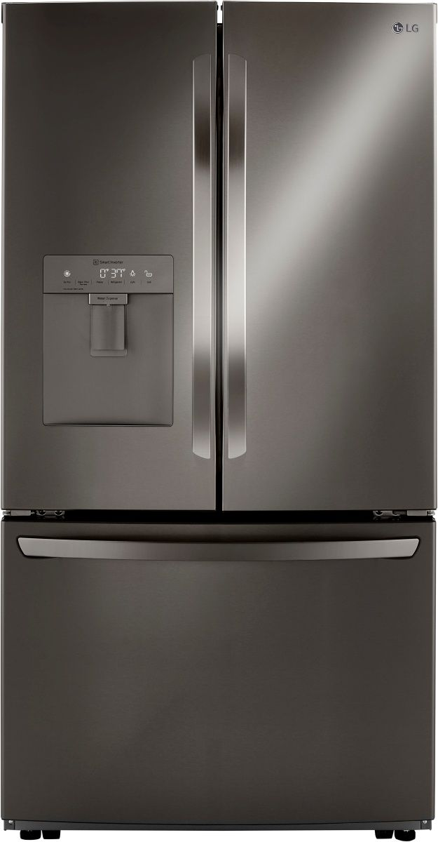 LG 29 Cu. Ft. PrintProof™ Black Stainless Steel Smart Wi-Fi Enabled French Door Refrigerator-LRFWS2906D