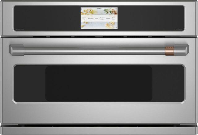 Four mural électrique à cuisson rapide 1,9 pi³ Cafe™ de 30 po - Acier inoxydable-CSB923P2NS1