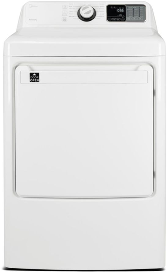 Midea® 7.5 Cu. Ft. White Front Load Gas Dryer -MLG45N1BWW
