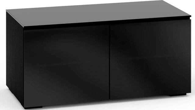 Salamander Designs® Oslo 221 AV Cabinet-Black Glass-C/OS221/BG