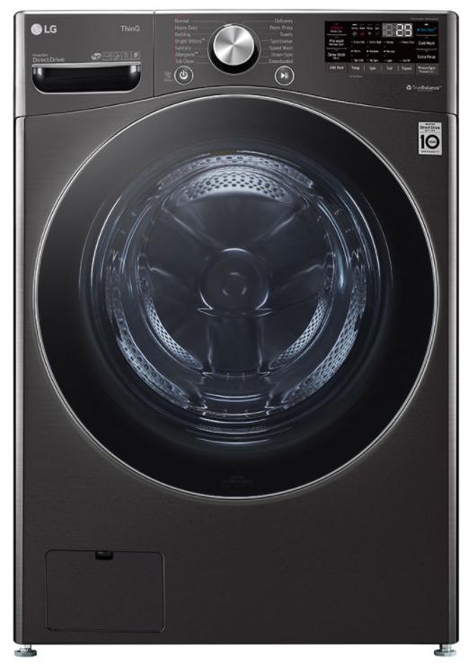 LG 5.0 Cu. Ft. Black Steel Mega Capacity Smart Wi-Fi Enabled Front Load Washer-WM4200HBA