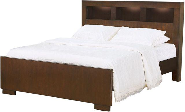 Coaster® Jessica Cappuccino California King Bookcase Bed-200719KW