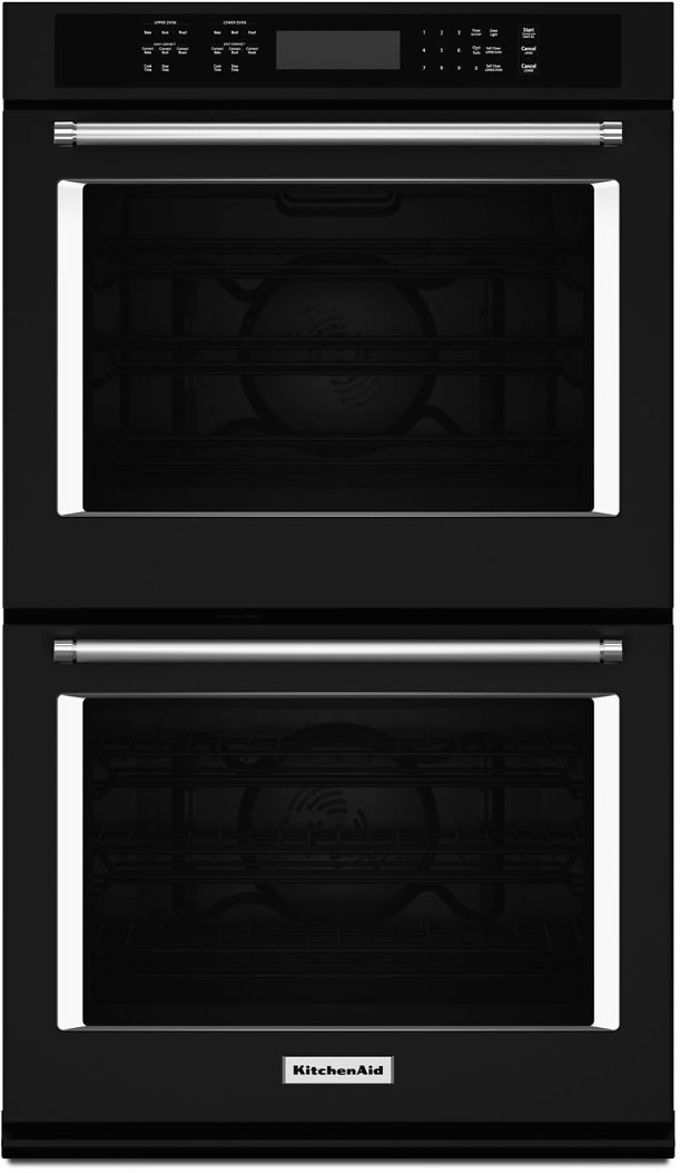 "KitchenAid® 30"" Black Electric Double Oven Built In-KODE500EBL"