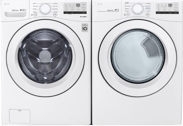 LG White Front Load Laundry Pair-LGLAUDLG3401W