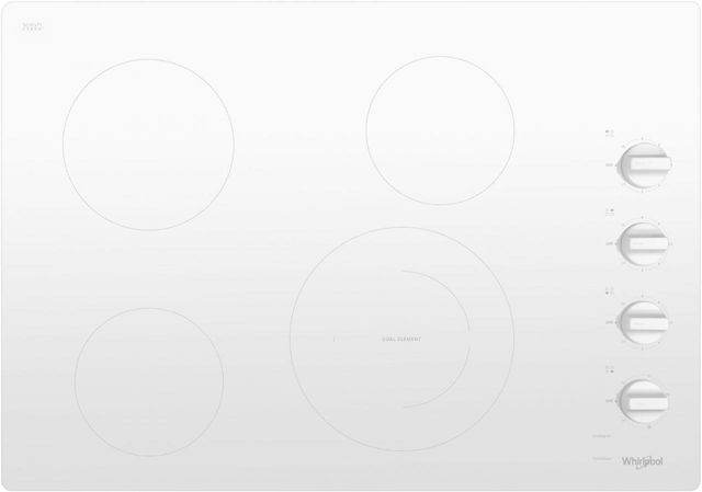 """Whirlpool® 30"""" Electric Cooktop-White-WCE55US0HW"""