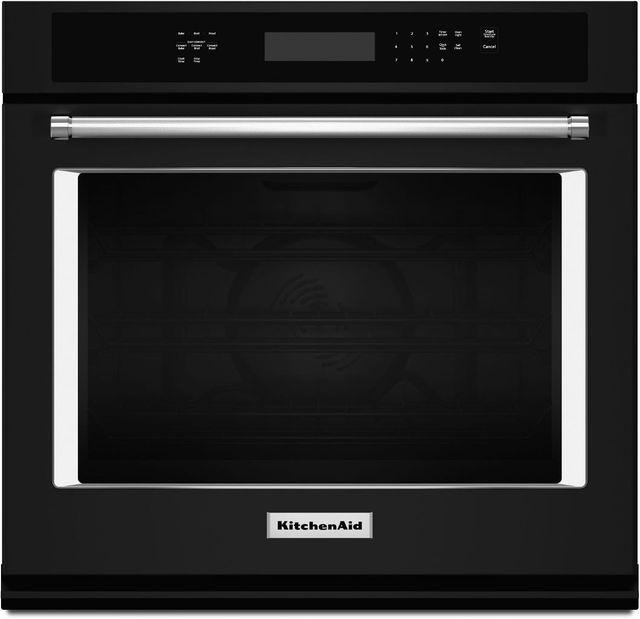 "KitchenAid® 30"" Black Electric Single Oven Built In-KOSE500EBL"