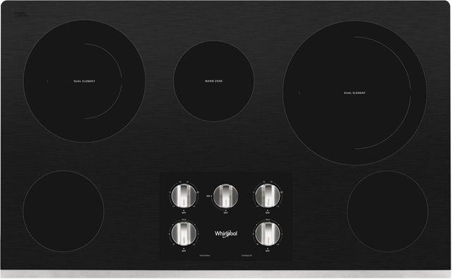 Table de cuisson électrique Whirlpool® de 36 po - Acier inoxydable-WCE77US6HS