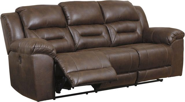 Signature Design by Ashley® Stoneland Chocolate Reclining Power Sofa-3990487