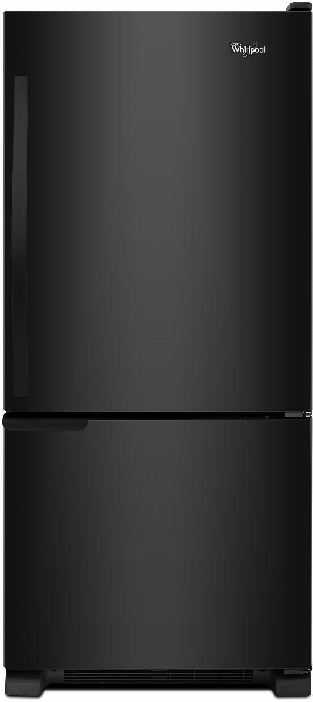 Whirlpool® Gold® 18.67 Cu. Ft. Bottom Freezer Refrigerator-Black-WRB119WFBB