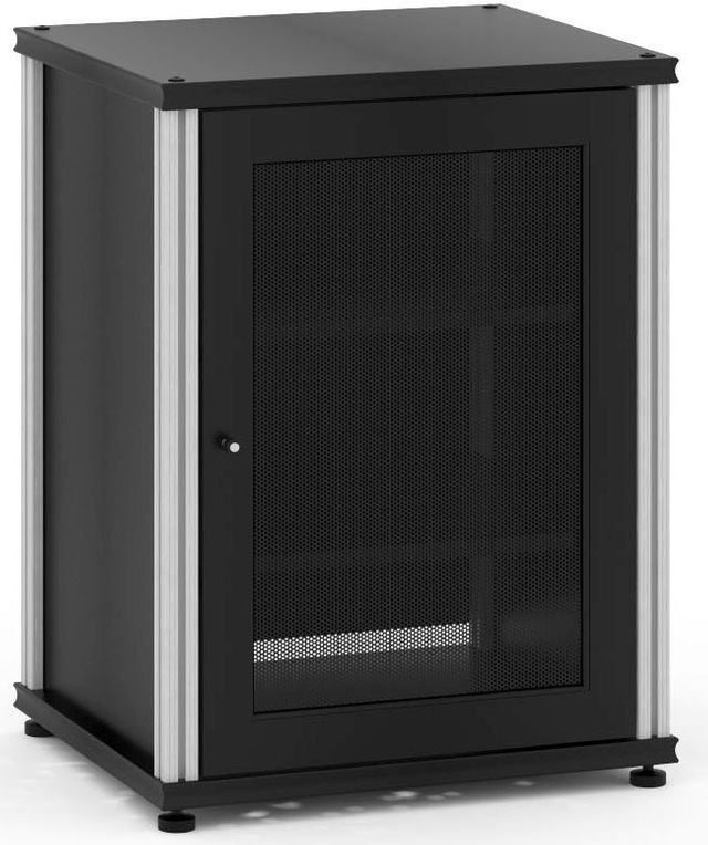 Salamander Designs® Synergy Model 303 AV Cabinet-Black/Aluminum-SB303B/A
