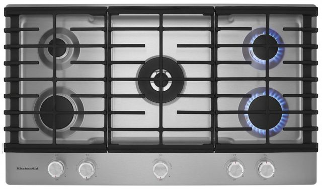 KitchenAid® 36'' Stainless Steel Gas Cooktop-KCGS556ESS