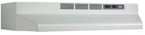 """Broan® 36"""" Convertible Under The Cabinet Hood-White-F403601"""