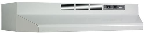 """Broan® 42"""" Convertible Under The Cabinet Hood-White-F404201"""