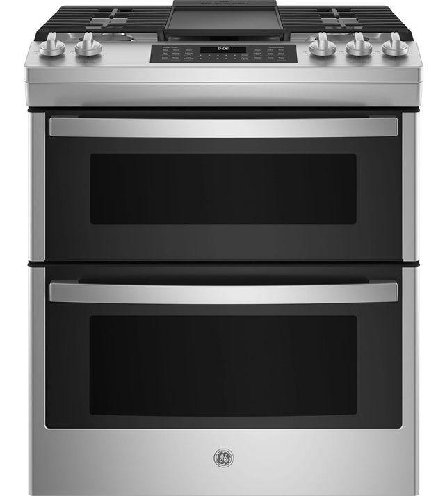 Cuisinière au gaz encastrée GE® de 6,7 pi³ de 30 po - Acier inoxydable-JCGSS86SPSS