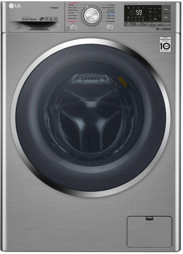 LG 2.3 Cu. Ft. Graphite Steel Front Load Washer & Dryer Combo-WM3499HVA
