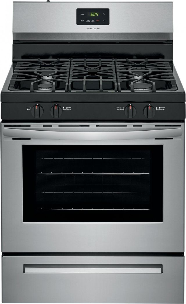 """Frigidaire® 30"""" Stainless Steel Free Standing Gas Range-FCRG3051AS"""