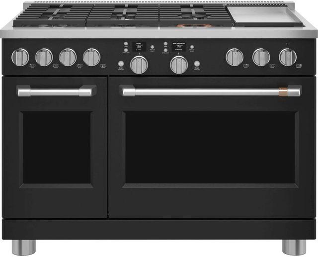 """Café™ 48"""" Matte Black Professional Style Dual Fuel Range -C2Y486P3TD1"""