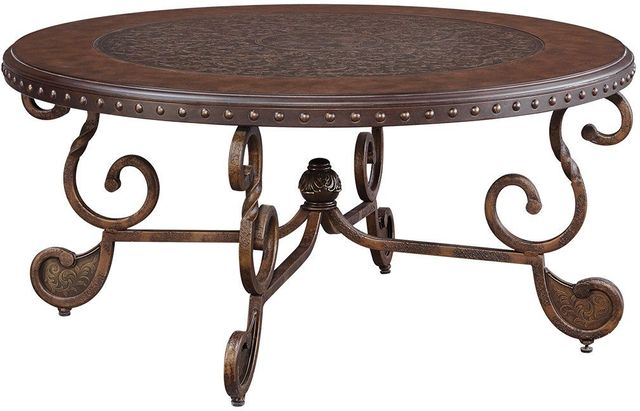 Signature Design by Ashley® Rafferty Dark Brown Round Coffee Table-T382-8