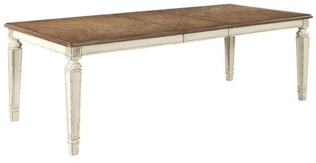 Signature Design by Ashley® Realyn Chipped White Rectangle Dining Room Extension Table-D743-45