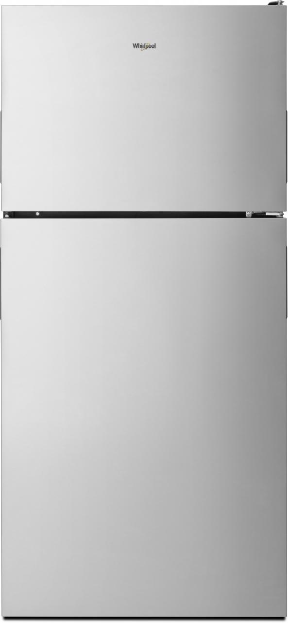 Whirlpool® 18 Cu. Ft. Top Freezer Refrigerator-Fingerprint Resistant Stainless Steel-WRT348FMEZ