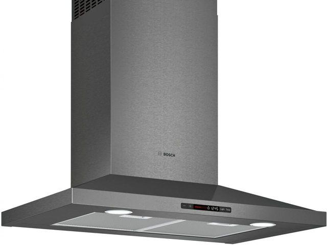 "Bosch 800 Series 30"" Pyramid Canopy Chimney Hood-Black Stainless Steel-HCP80641UC"